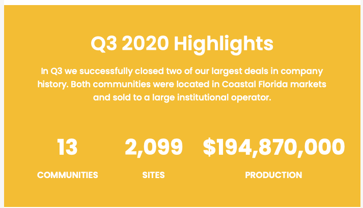Q3 2020 Highlights